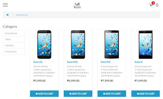 Kata Online Shop Interface