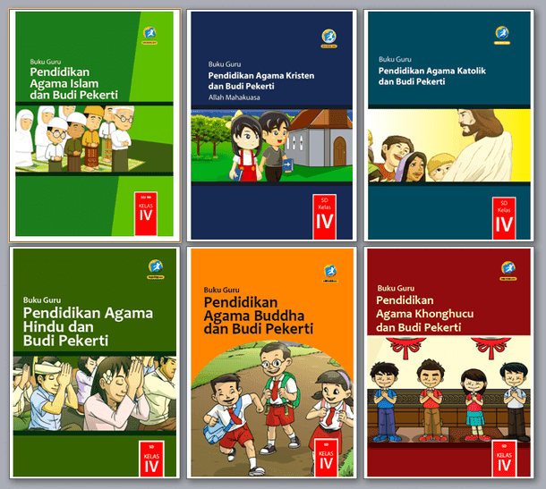 Buku Pendidikan Agama Kelas IV (4) SD Kurikulum 2013 Revisi 2017