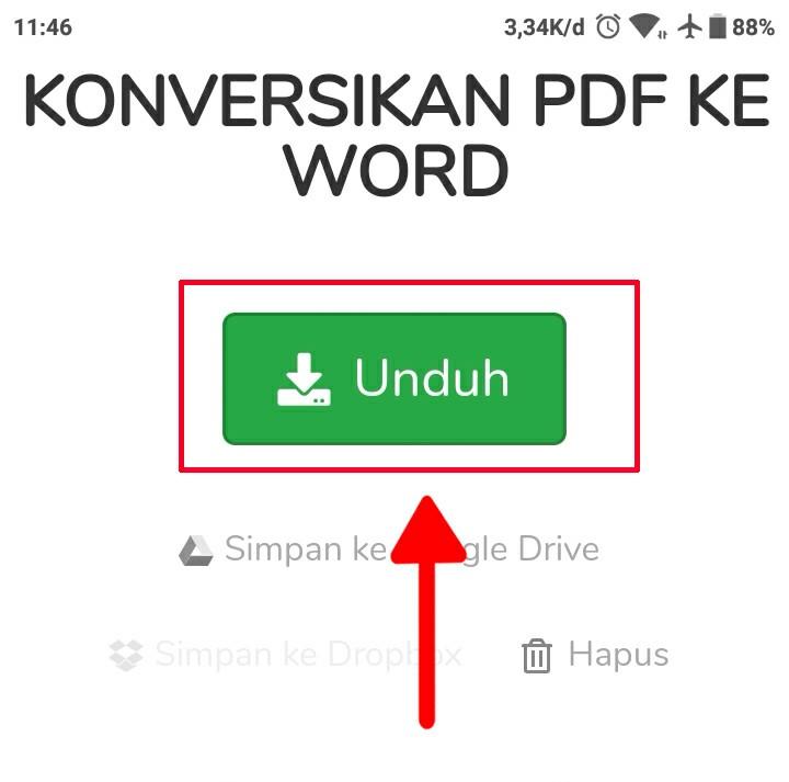 Cara mengubah dokumen PDF ke Microsoft word pada android 6
