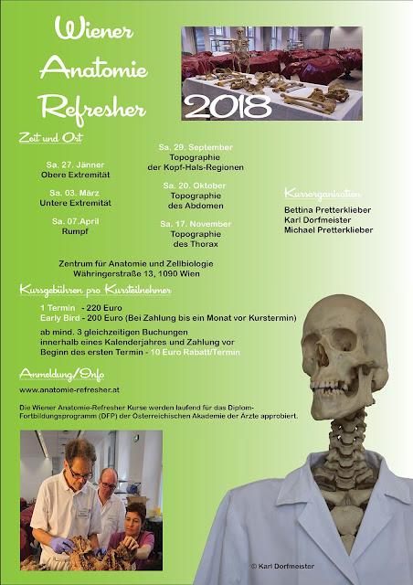 Wiener Anatomie Refresher: Kurse 2018