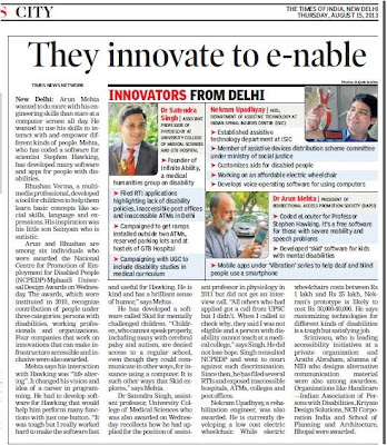 They innovate to -enable, disability activist