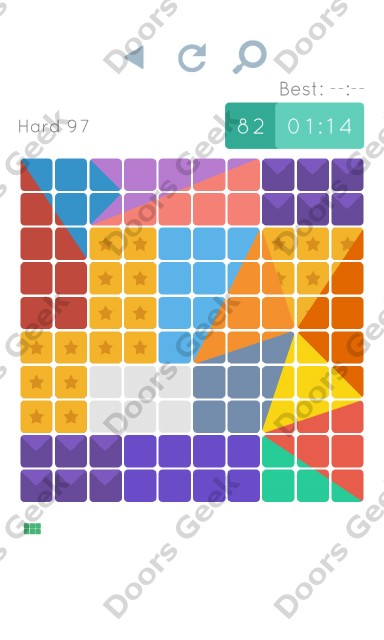Cheats, Walkthrough for Blocks and Shapes Hard Level 97