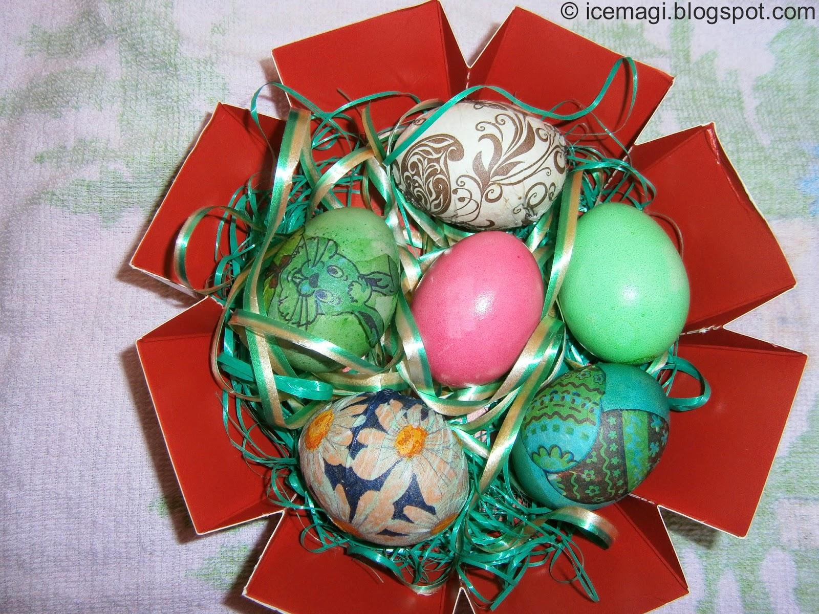 декупаж яйца за Великден