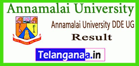 Annamalai University DDE 1st 2nd 3rd Year BA B.Sc B.Com BBA BCA Result