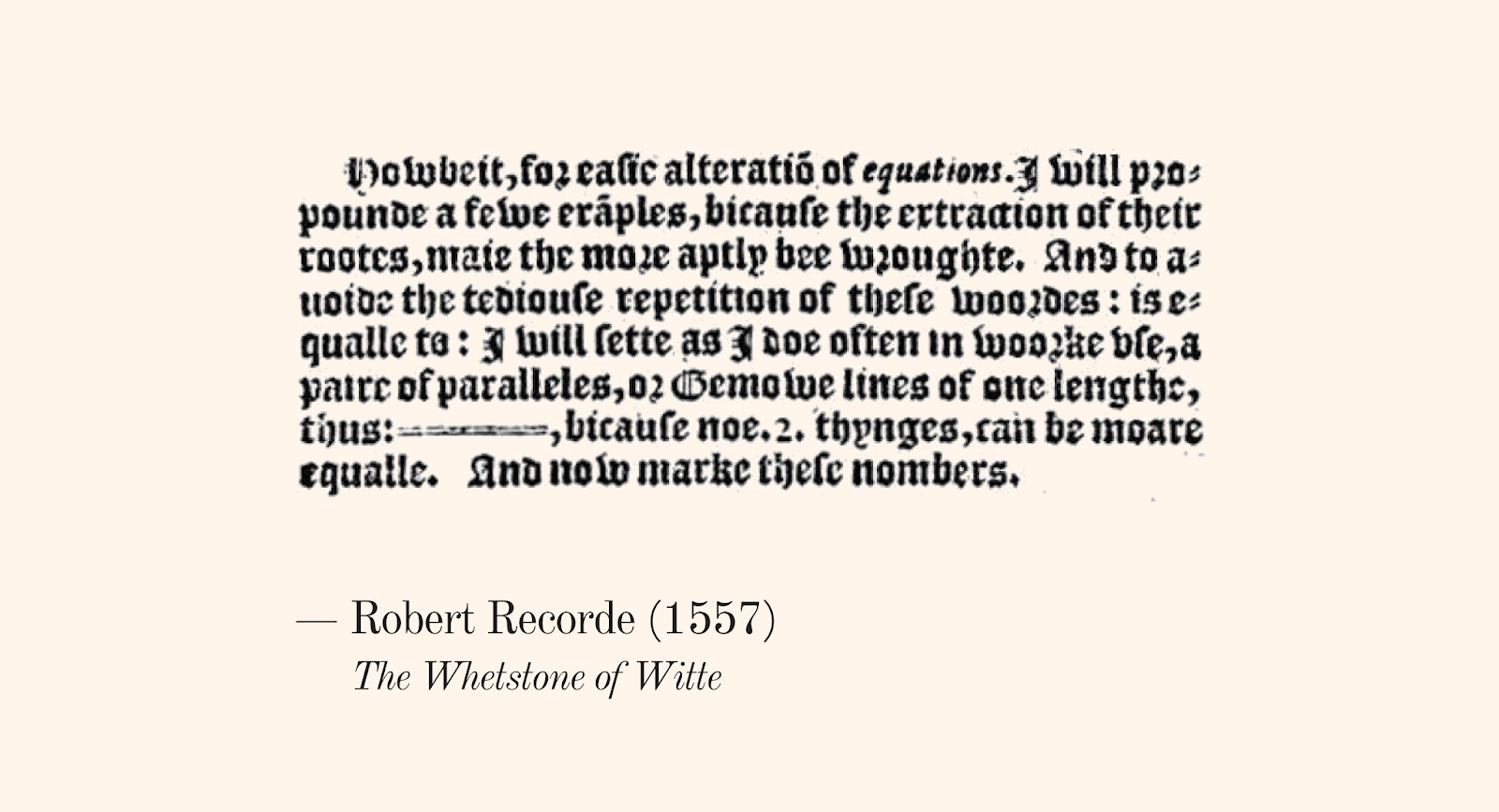 Maths ed ideas during recordes time much of the mathematical notation we take for granted today was not yet in use in designing the symbol a paire of paralleles biocorpaavc Image collections