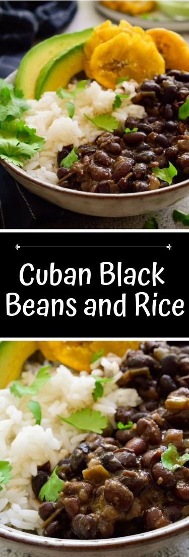 Cuban Black Beans and Rice #dinnerrecipe #food