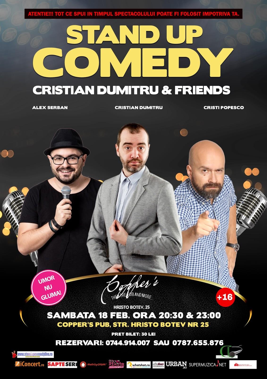 Stand-Up Comedy Sambata 18 Februarie Bucuresti @ Copper's Pub