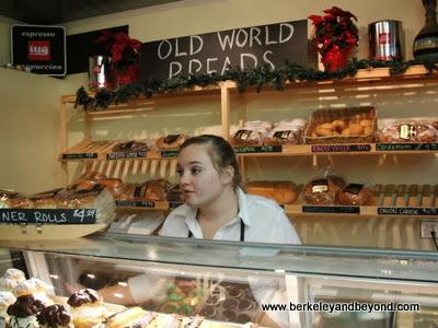 counter at Olsen's Danish Village Bakery in Solvang, CA