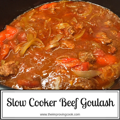 Slow Cooker Beef Goulash in a slow cooker