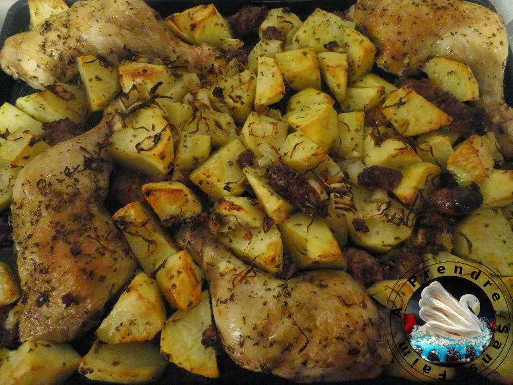 Poulet l 39 espagnol et pommes de terre au four a prendre - Comment conserver des pommes de terre coupees ...
