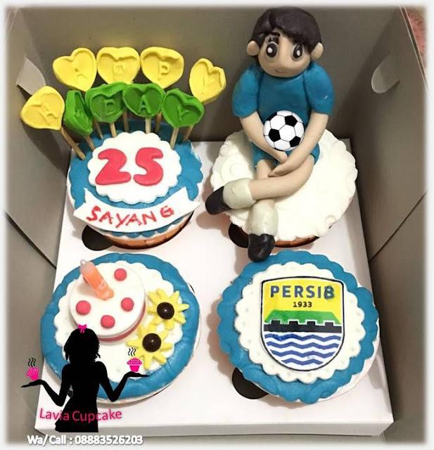 Cupcake Ultah Pacar Penggemar Persib Bandung