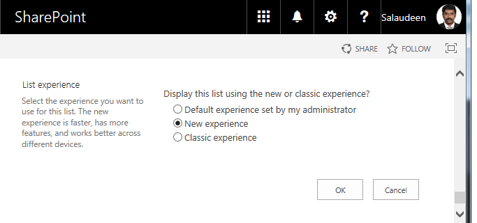 How to Change SharePoint Online List to New Experience