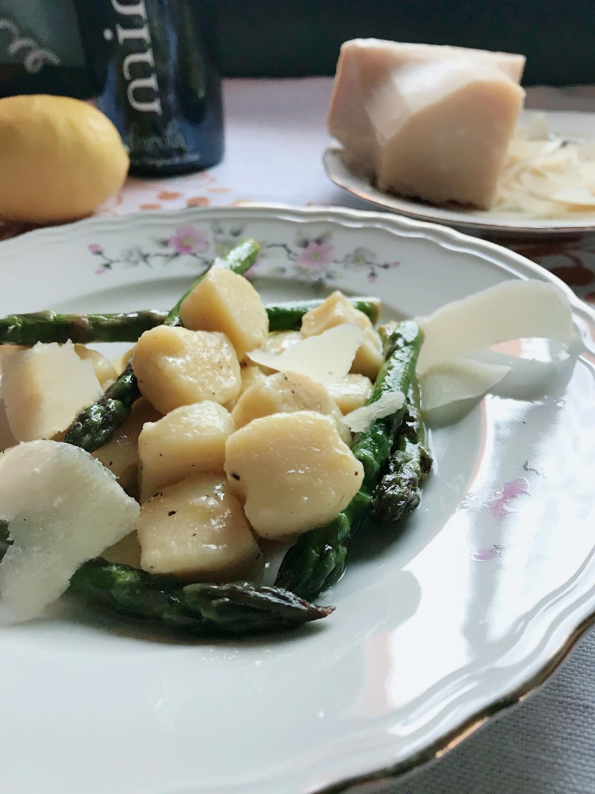 Gnocchi with Asparagus in a Light Creamy Lemon Sauce