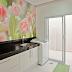 Lavanderias decoradas com papel de parede - veja modelos lindos e dicas!