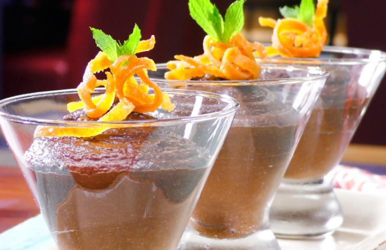 Mousse de Chocolate y un toque de Naranja