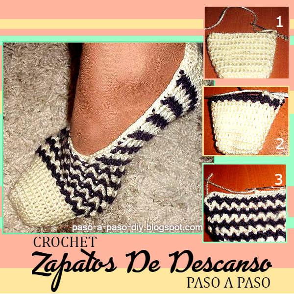 Zapatos de descanso tejidos a crochet / DIY | Paso a Paso