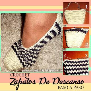 como-tejer-zapatos-de-descanso-crochet