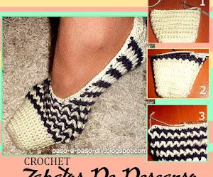 Zapatos de descanso tejidos a crochet / DIY