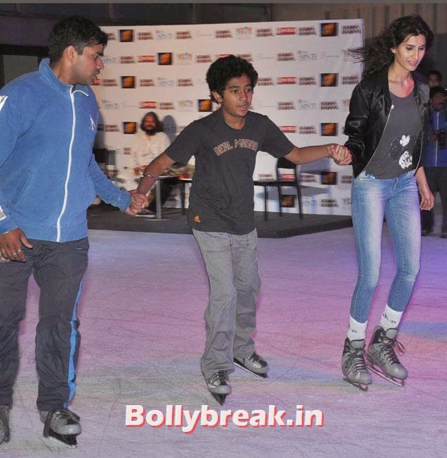 Pragya Yadav  and Partho Gupte, Pragya Yadav skate at Hawaa Hawaai Promotion