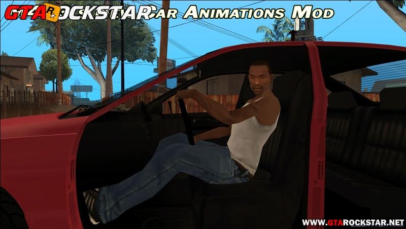 New Car Animations v1.1  (Animações Realista no Carro) para GTA SA