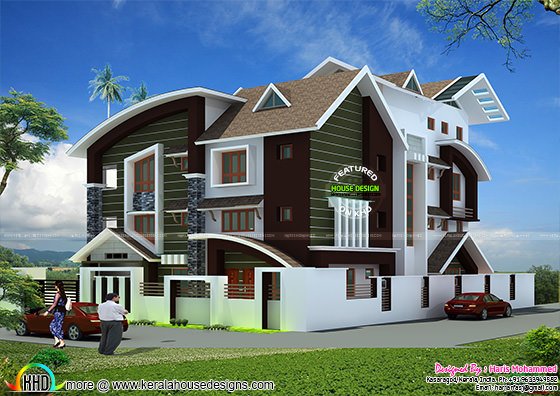 5 bedroom modern mix house in 840 sq-M