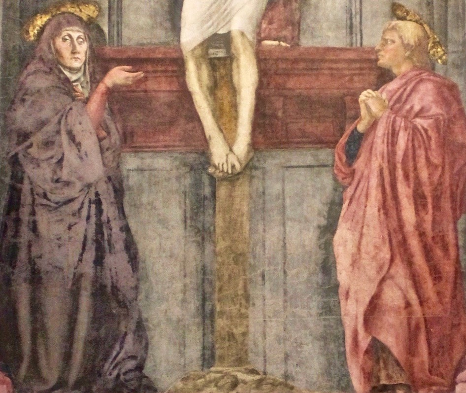 a report on the holy trinity by masaccio The holy trinity by masaccio was done approximately 1428 it is a superb example of masaccios use of space and perspective it consists of two levels of unequal height.