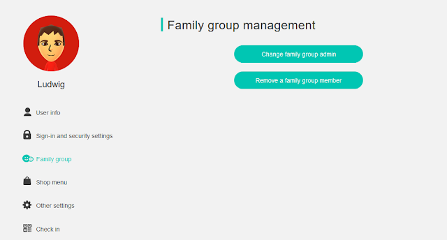 Family group management Nintendo Accounts