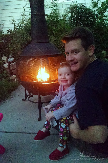 campfire, backyard