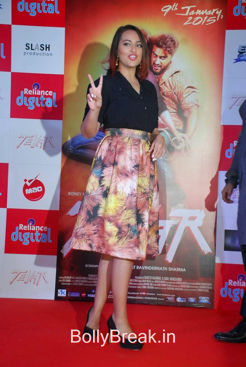 Sonakshi Sinha Stills, Sonakshi Sinha Hot Pics In Skirt At Reliance Digital Infiniti Mall 2 Malad