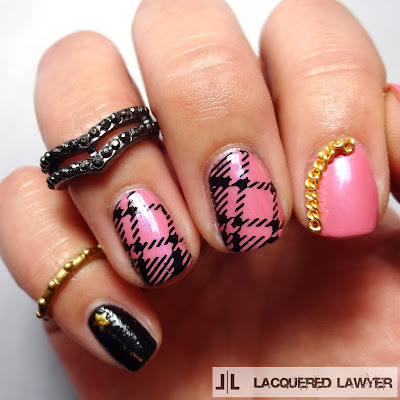 Glammed Up Grunge Nail Art