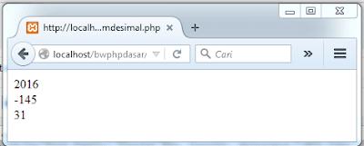 Pengenalan Tipe Data Integer dan Cara Penuliasan Integer di PHP