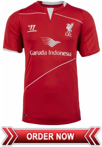 f6e92c761a8 Jersey Training Liverpool Merah Garuda Indonesia Official 2015 ...