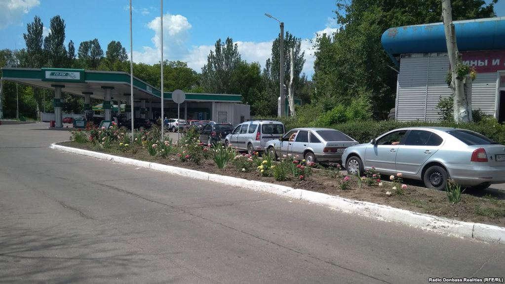 В Донецке дефицит бензина