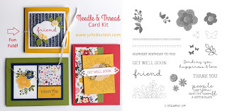 Stampin' Up! Needle & Thread Card Kit for February 2019 Stamp of the Month Club by Julie Davison www.juliedavison.com/clubs