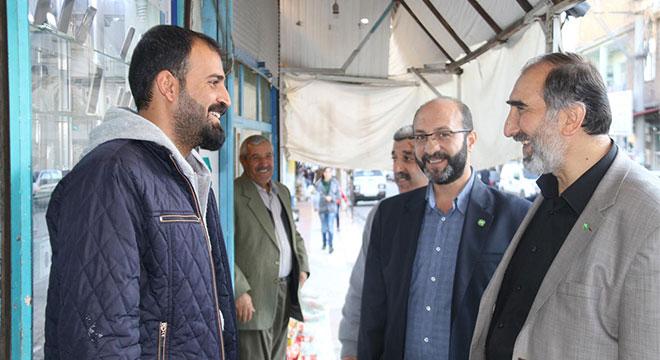 HÜDA PAR, Ergani'de esnaf ziyaretinde bulundu