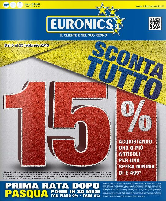 Volantino Euronics Tufano - Febbraio 2016