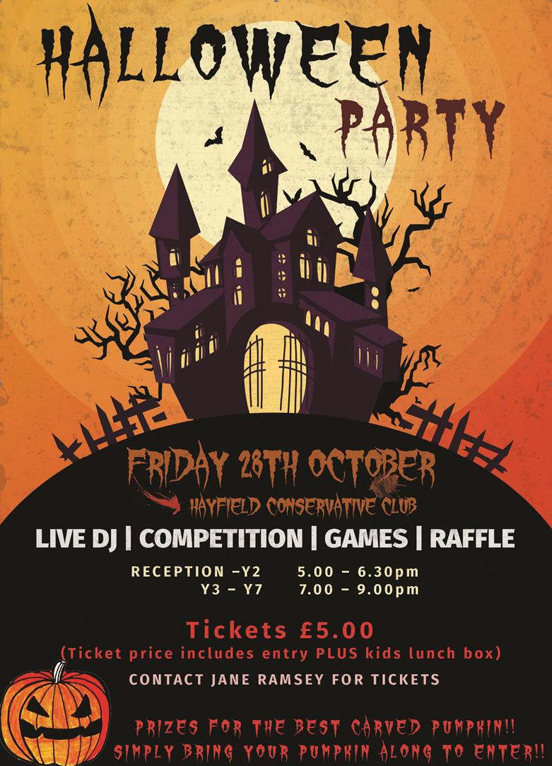 Hayfield Junior Football Club: Halloween Party 28th October