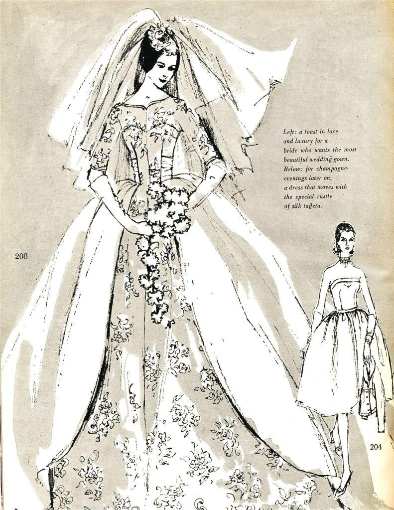 Vogue Wedding Dress Patterns Vintage