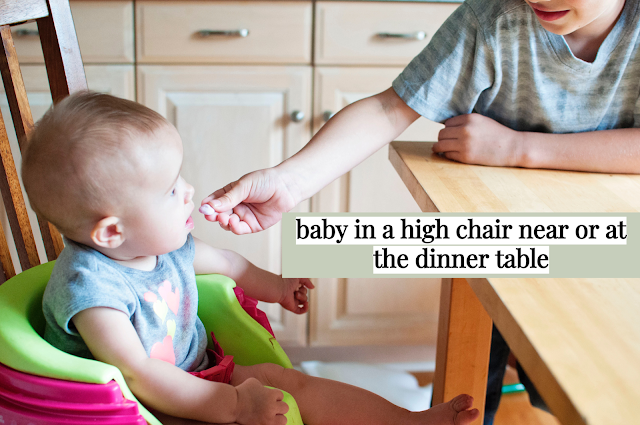 Teaching your  child to eat at the table as opposed to on the sofa or in the bedroom is a  great way not only to keep your house neat but to instill a good habit  that can last a lifetime.