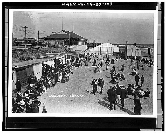 Above Huntington Beach Near Pier And Bandshell Circa 1914 Photo Library Of Congress