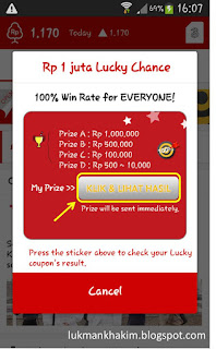 lucky change di cashtree