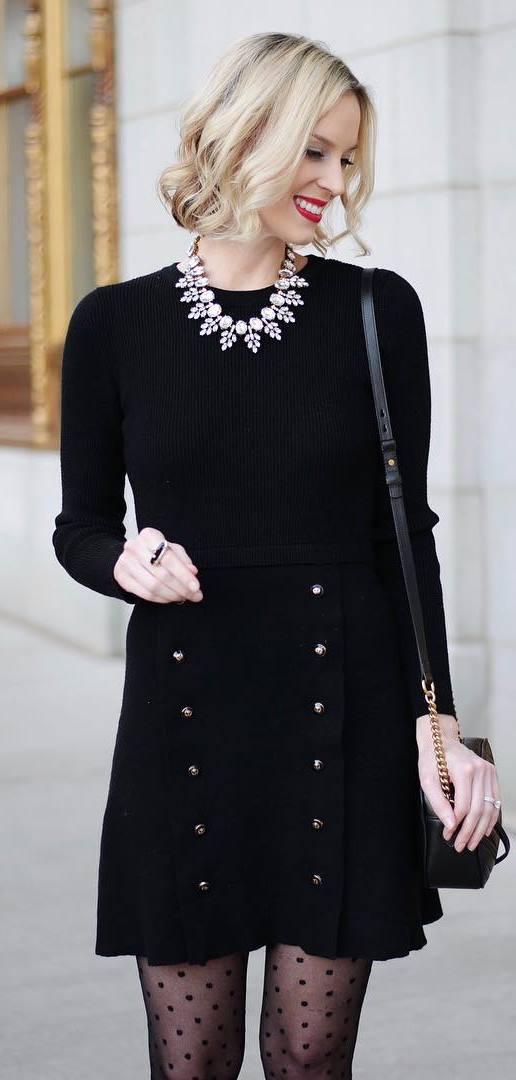 all black everything / bag + dress