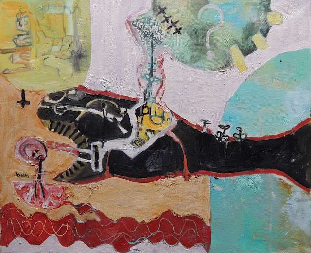 Elena Gastón pintura expresionista animales Jonas y Leviatan