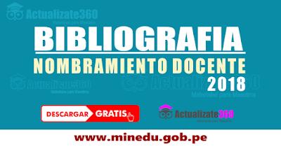 BIBLIOGRAFIA NOMBRAMIENTO DOCENTE 2018