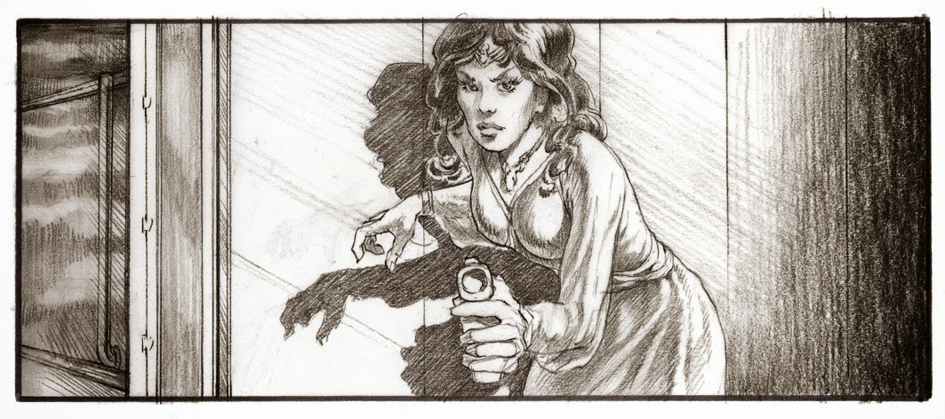 princess leia storyboard sketch
