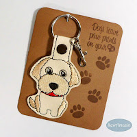 Labradoodle Dog Breed Key Chain, Purse Charm