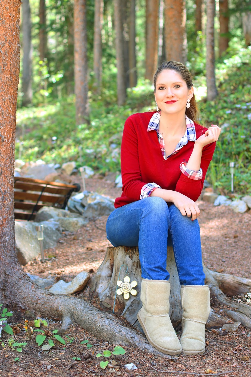 Keep cozy this fall with simple layers and comfy Uggs