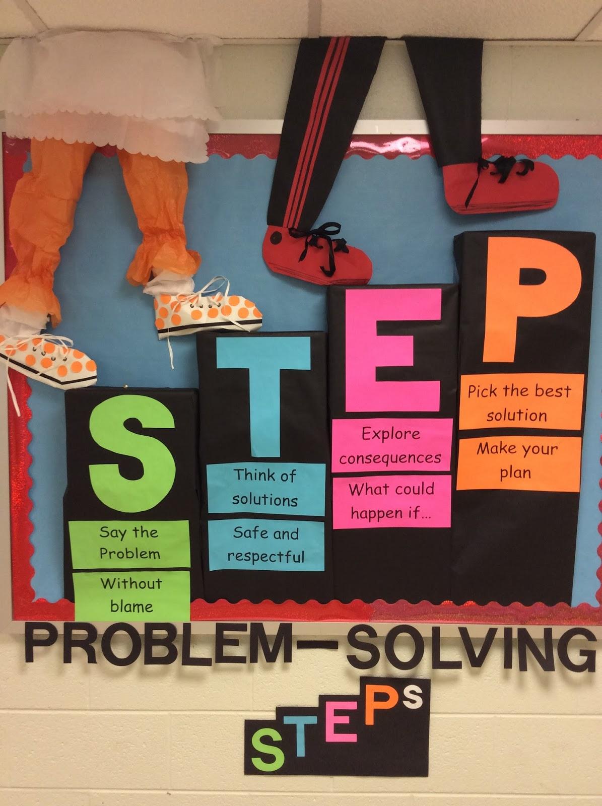 Elementary Counseling Blog Problem Solving Steps Bulletin
