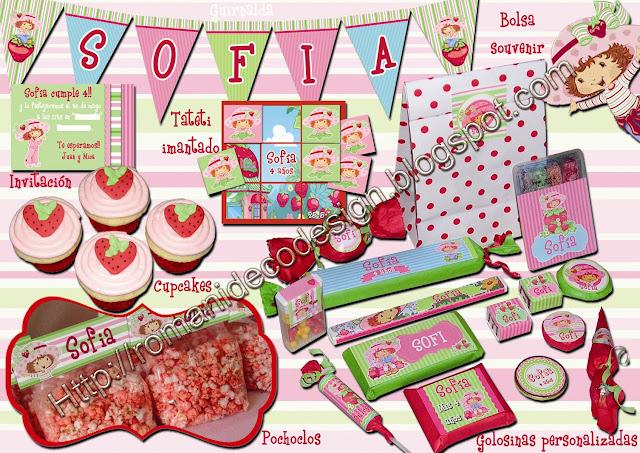 Candy Bar y Golosinas personalizadas de Frutillitas