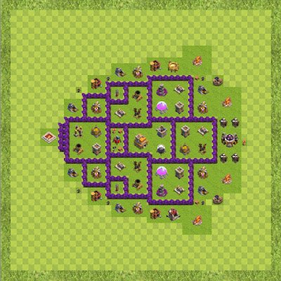 War Base Town Hall Level 7 By abasaheb (its a trap TH 7 Layout)